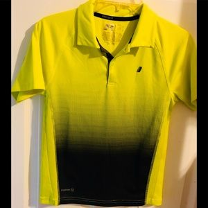 Russell Athletic Neon Yellow Dry-Fit Boys Polo